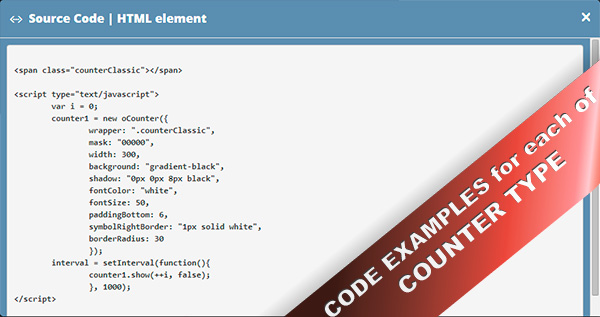 Ultimate JavaScript Counter